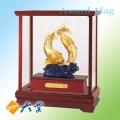 GH-343 雙魚吉慶(圓滿躍昇) 999純金箔畫